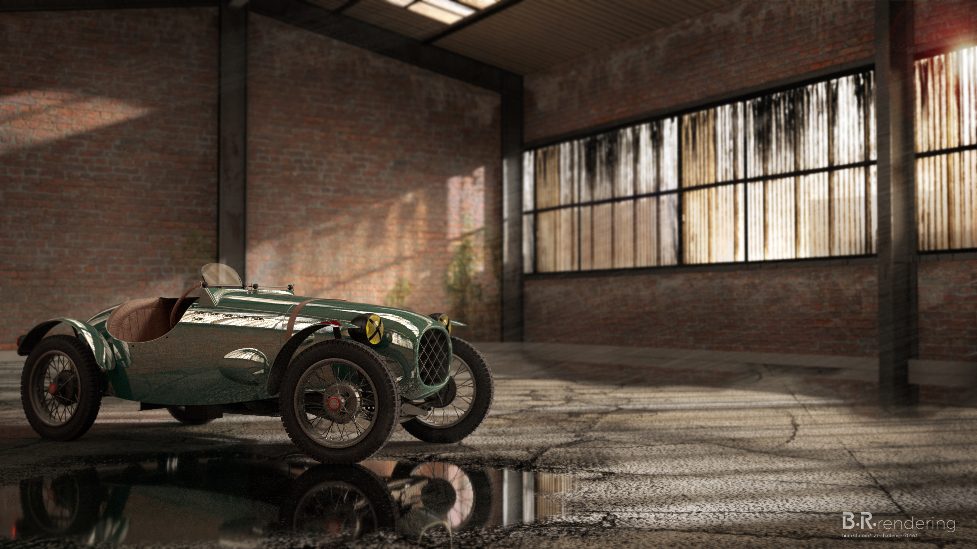 A preserved relic - Austin 7 Special 3d art