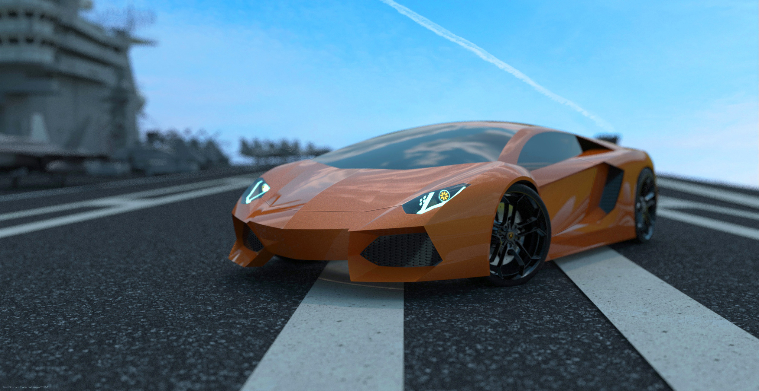 Aventador with the jets 3d art