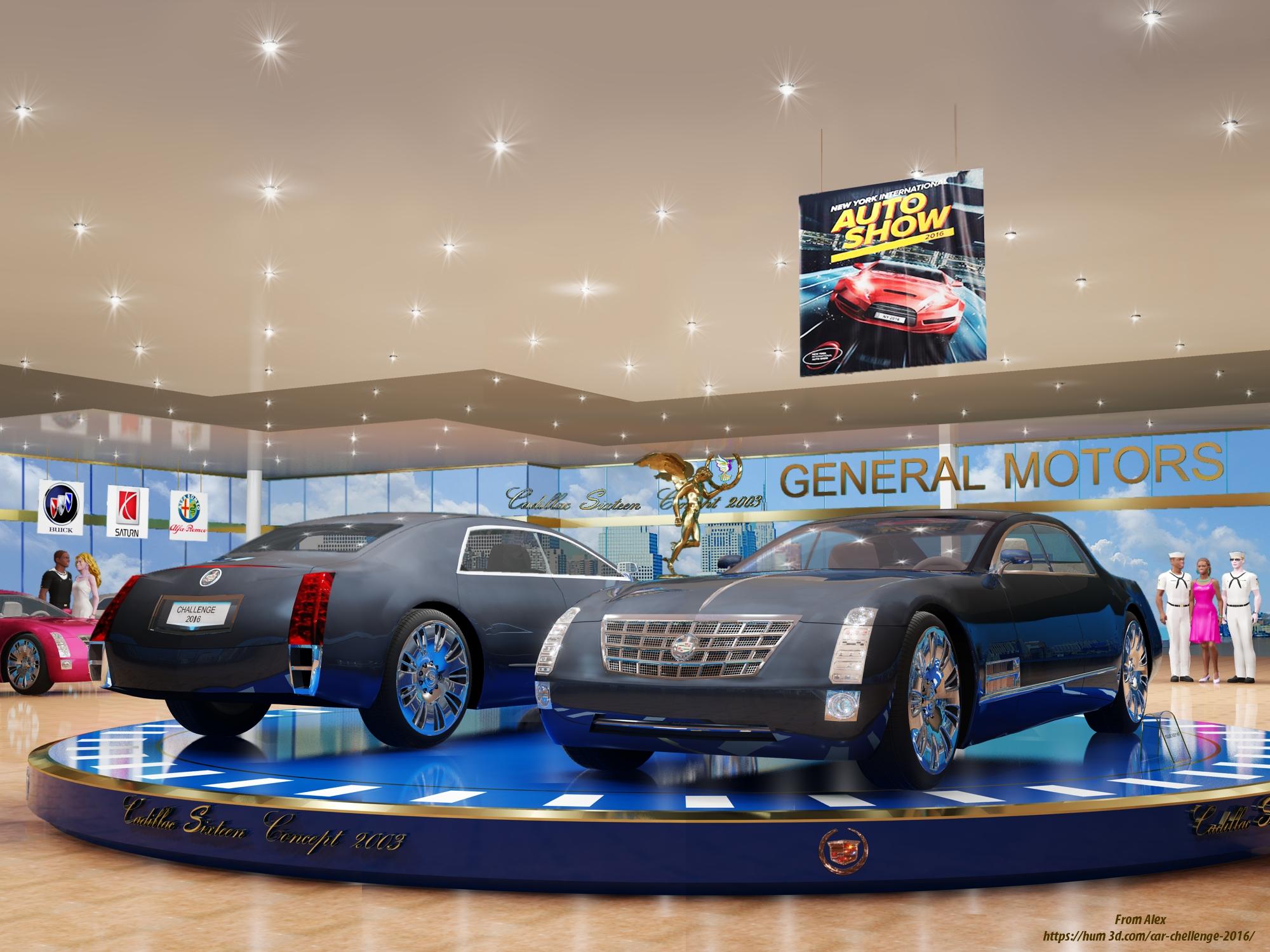 Cadillac sixsteen Concept 2003 3d art