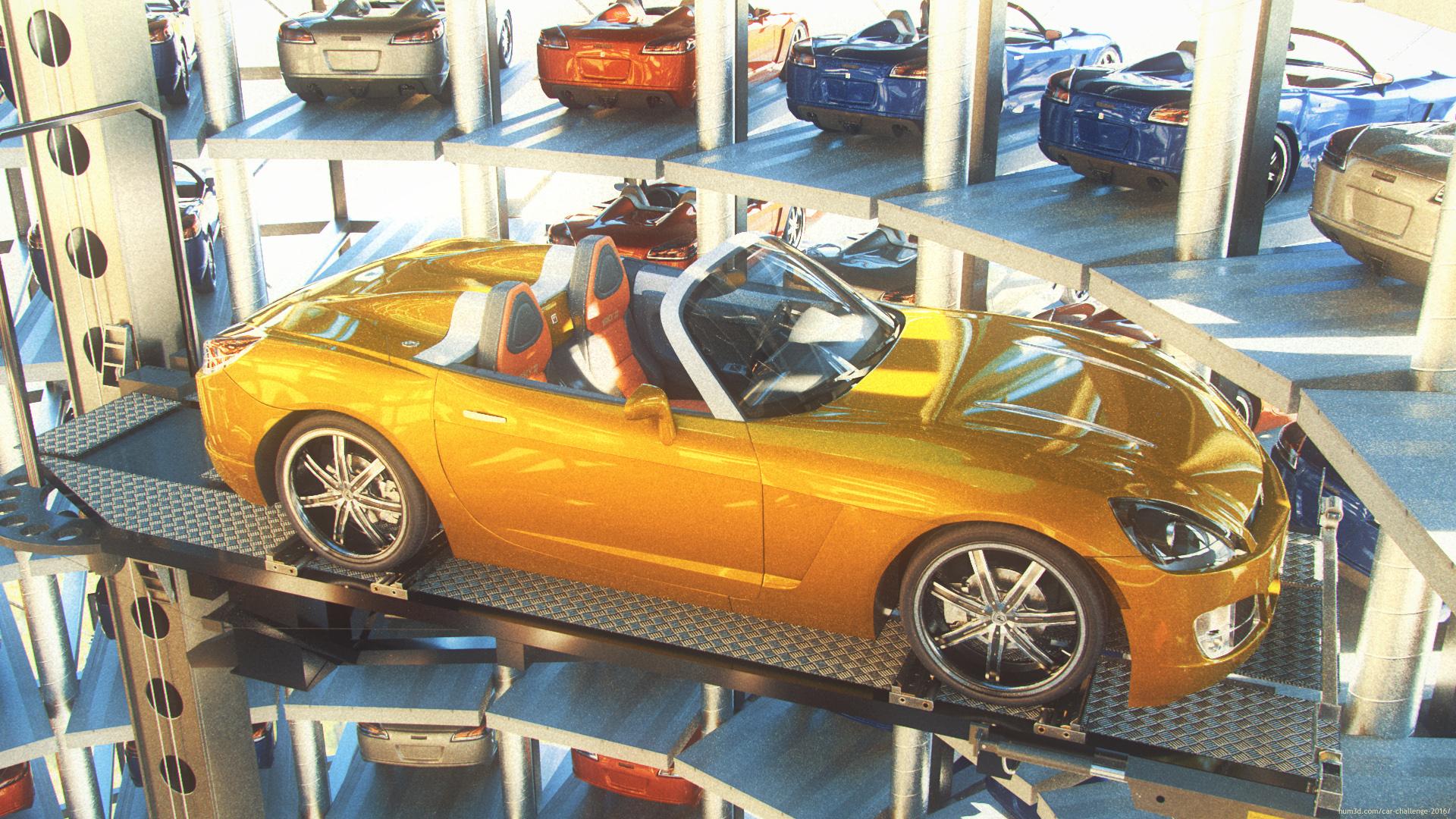 Car tower 3d art