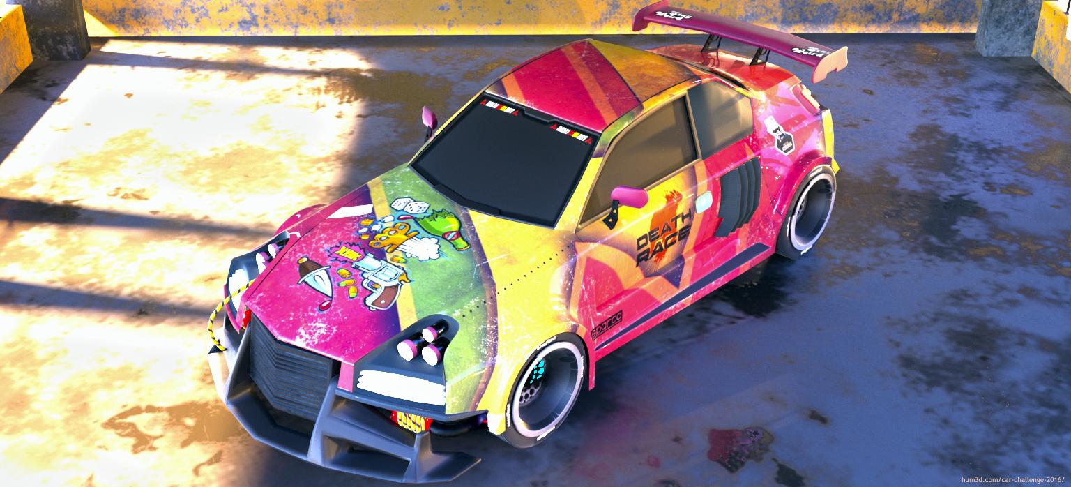 Death Race Car 3d art
