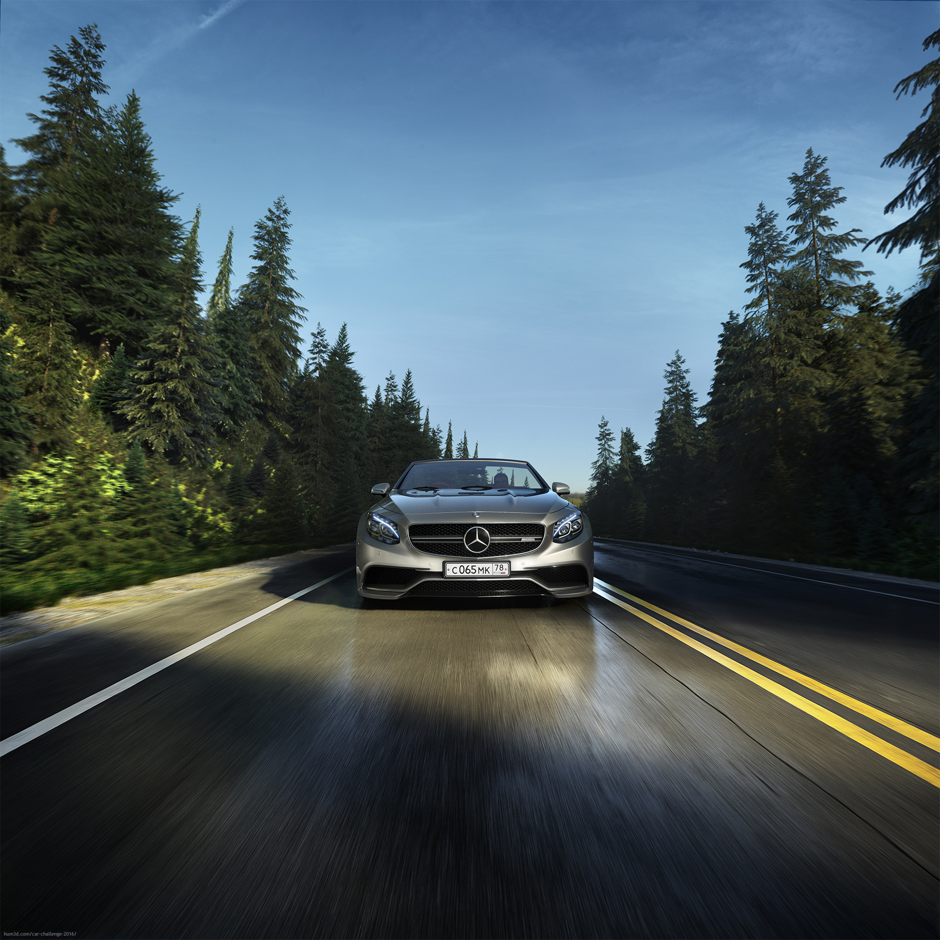 Mercedes-Benz S63 AMG Cabriolet 3d art