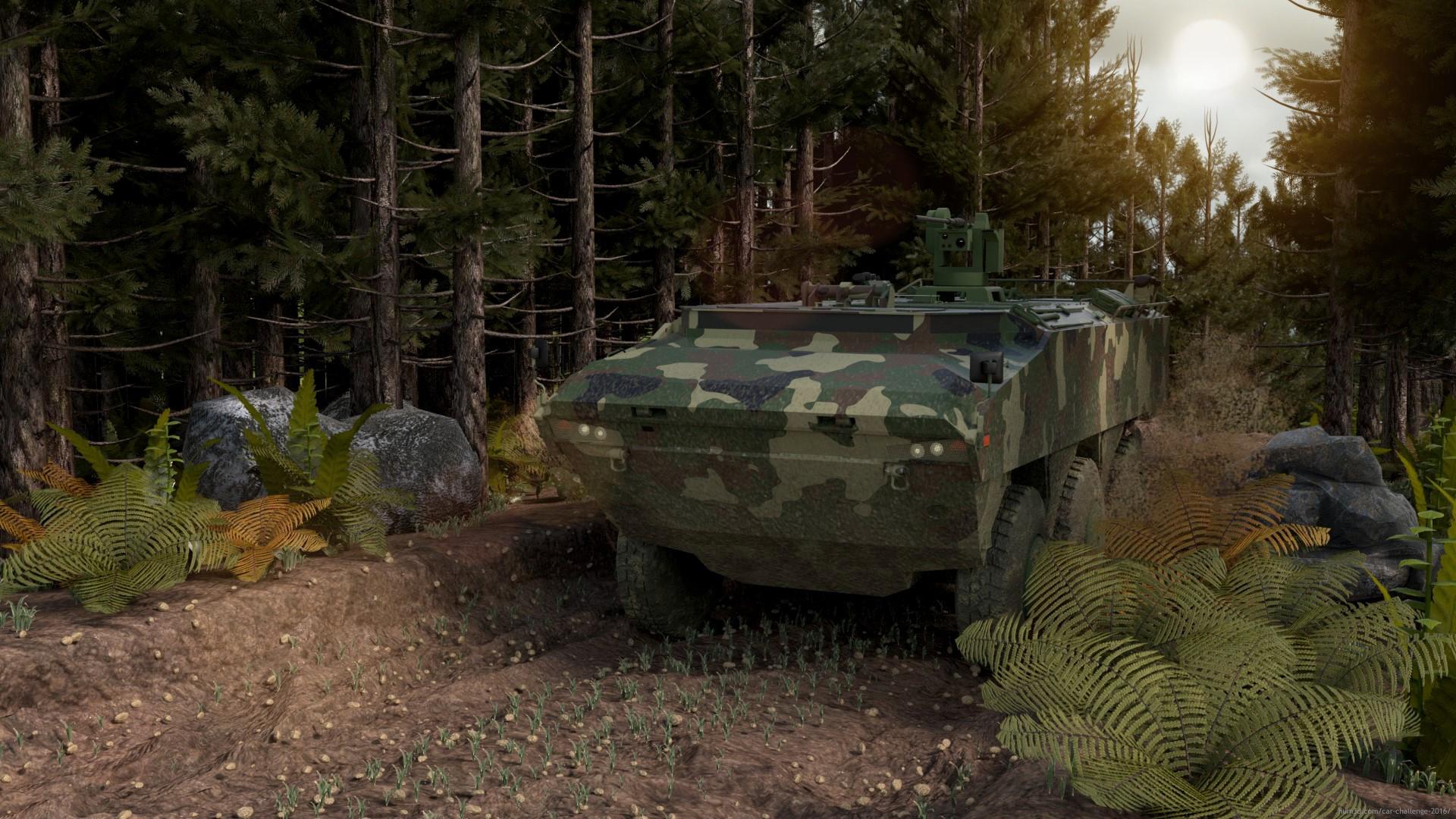 Pars 6x6 Military Vehicle 3d art