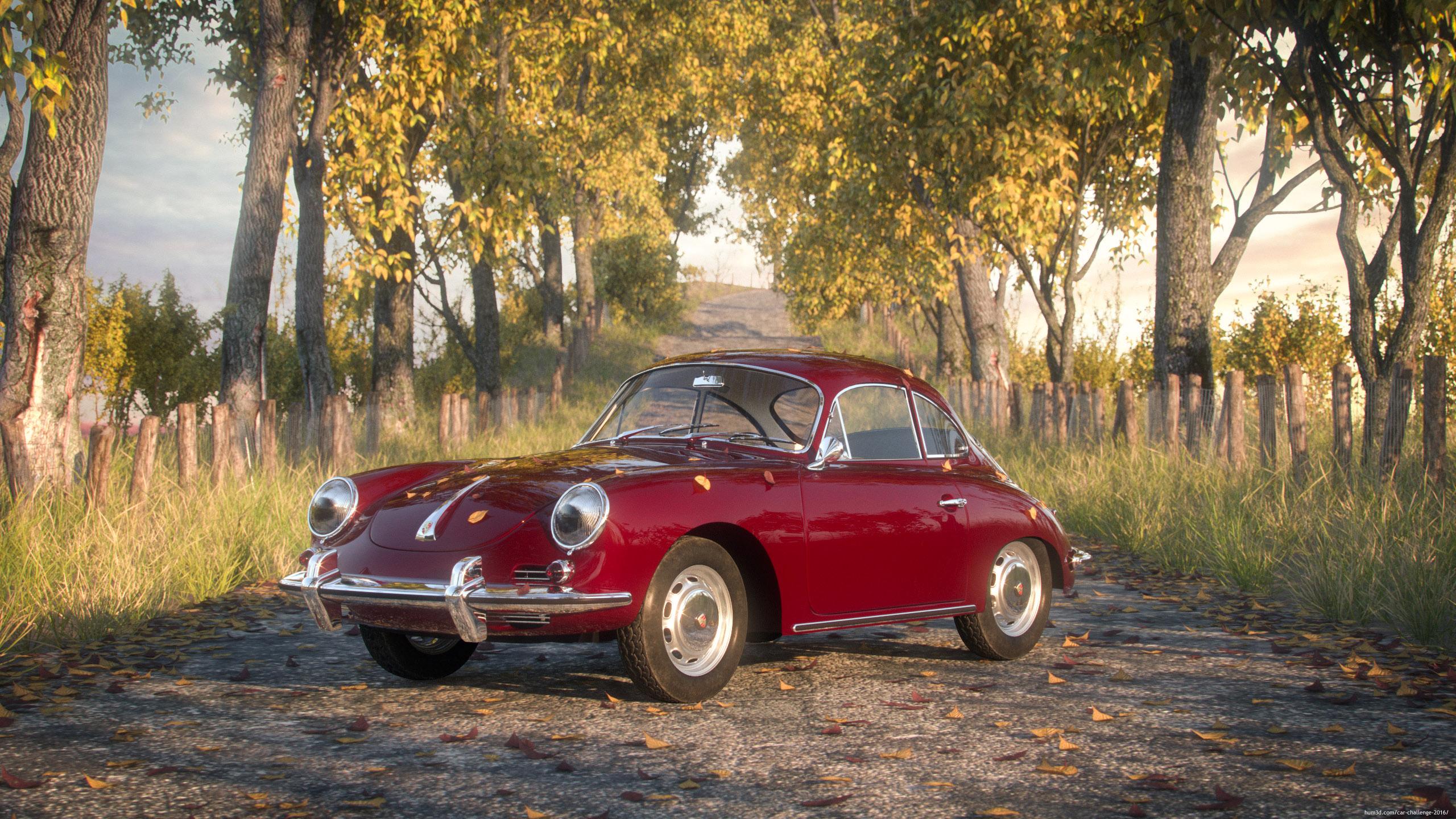 Porsche 356C 3d art