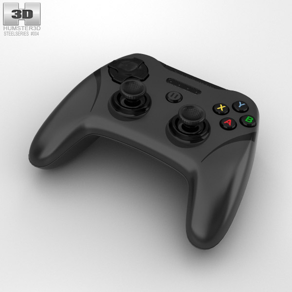 3D model of SteelSeries Stratus XL Controller