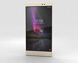 3D model of Lenovo Phab 2 Champagne Gold