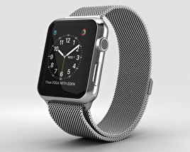 3D model of Apple Watch Series 2 42mm Stainless Steel Case Milanese Loop