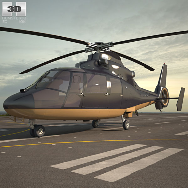 3D model of Eurocopter AS365 Dauphin