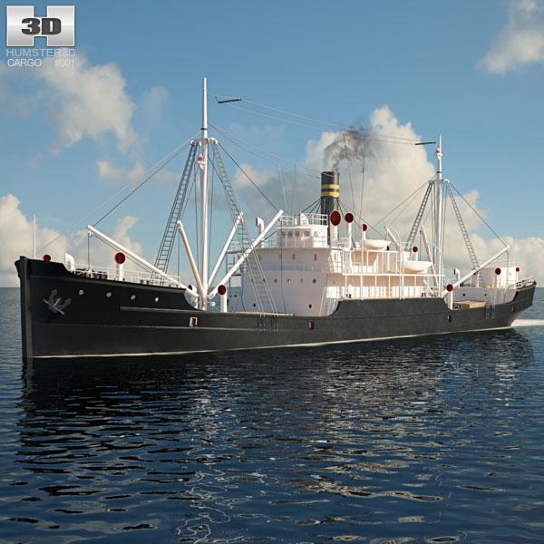 3D model of Ferris Cargo Ship