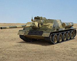3D model of SU-100