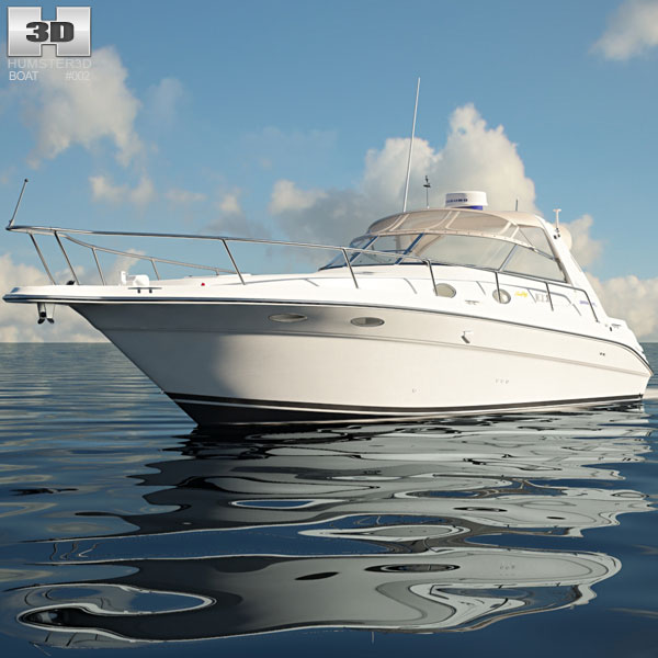Sea Ray 330 Sundancer Boat 3D model