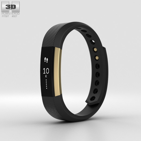 Fitbit Alta Black/Gold 3D model