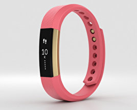 3D model of Fitbit Alta Pink/Gold