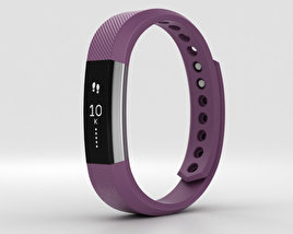 3D model of Fitbit Alta Plum/Silver