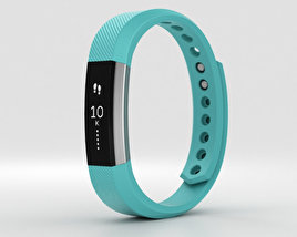 3D model of Fitbit Alta Teal/Silver
