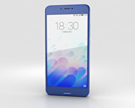 3D model of Meizu M3x Blue