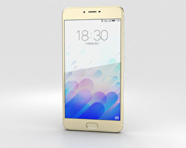 3D model of Meizu M3x Gold