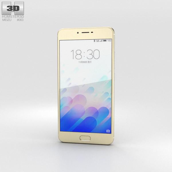 Meizu M3x Gold 3D model