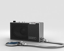 3D model of Sony ICR-100 Radio
