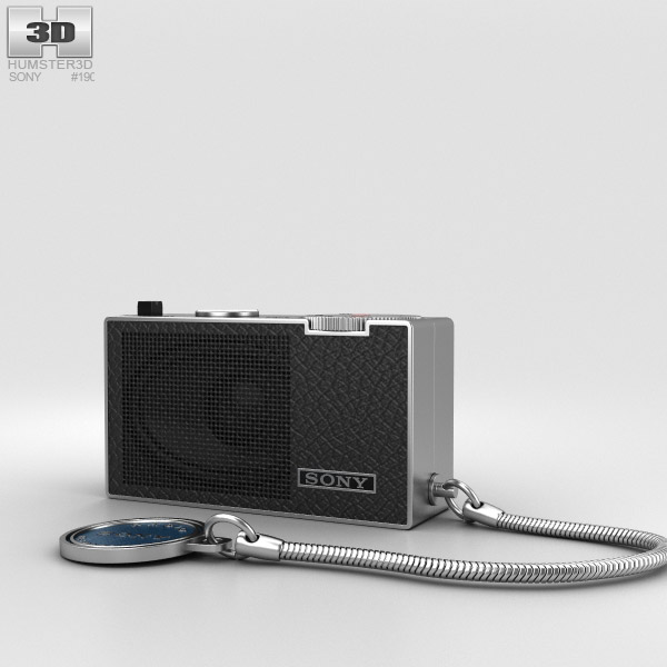 Sony ICR-100 Radio 3D model