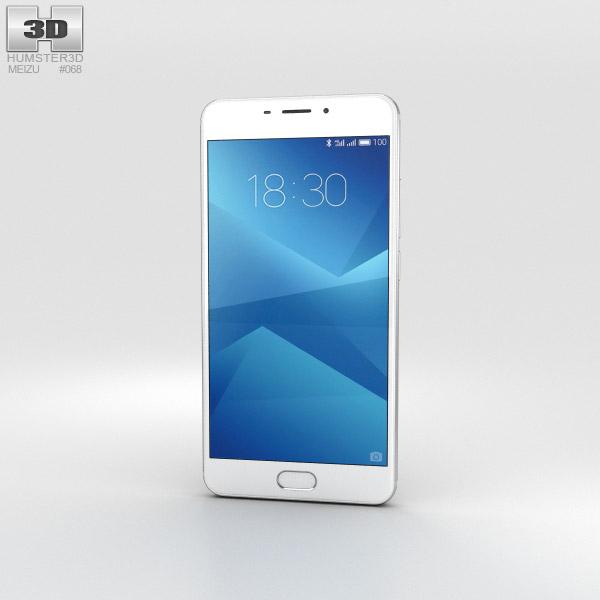 Meizu M5 Note Silver 3D model