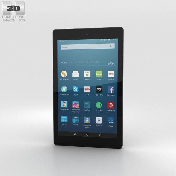 Amazon Fire HD 8 Black 3D model