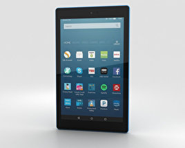 3D model of Amazon Fire HD 8 Blue