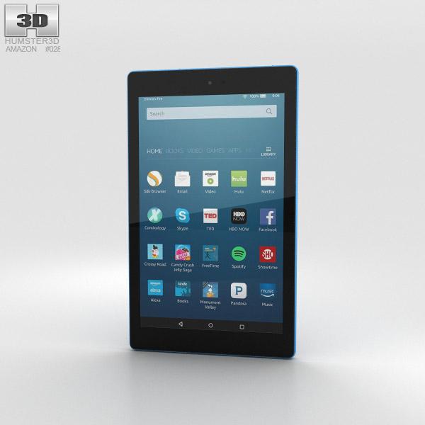 Amazon Fire HD 8 Blue 3D model