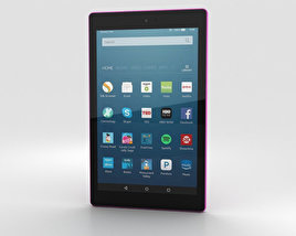 3D model of Amazon Fire HD 8 Magenta