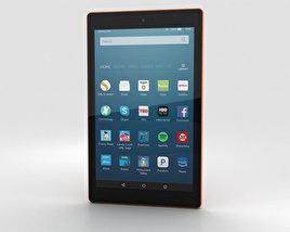 3D model of Amazon Fire HD 8 Tangerine