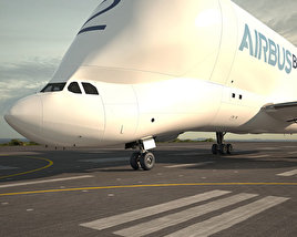 3D model of Airbus A300-600ST Beluga