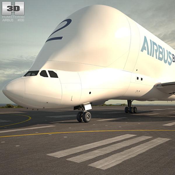 3D model of Airbus A300-600ST Beluga