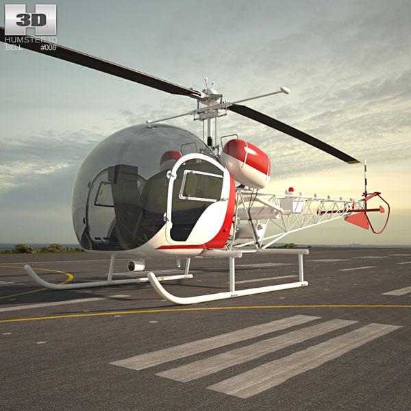 3D model of Bell 47