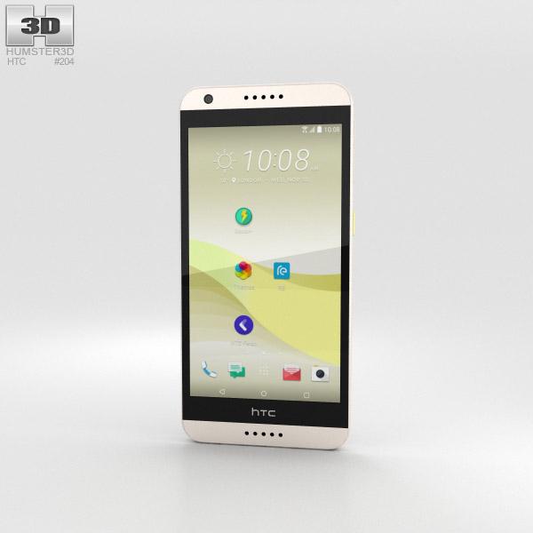 HTC Desire 650 White 3D model