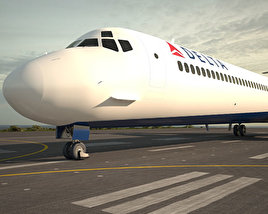 3D model of McDonnell Douglas MD-80