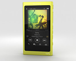 3D model of Sony NW-A35 Yellow