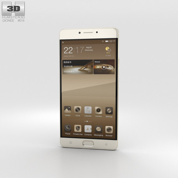 Gionee M6 Champagne Gold 3D model