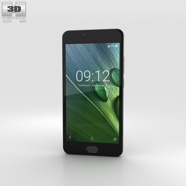 Acer Liquid Z6 Plus Gray 3D model