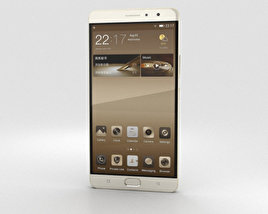 3D model of Gionee M6 Plus Champagne Gold