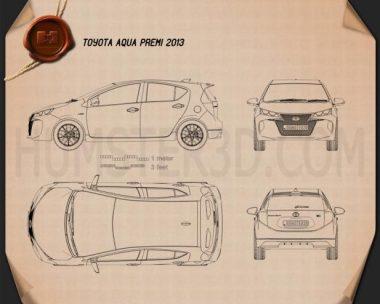 Toyota Aqua Premi 2013 Blueprint
