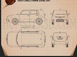 Toyota Corolla Rumion 2007 Blueprint