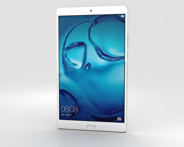 3D model of Huawei MediaPad M3 8.4-inch Gold