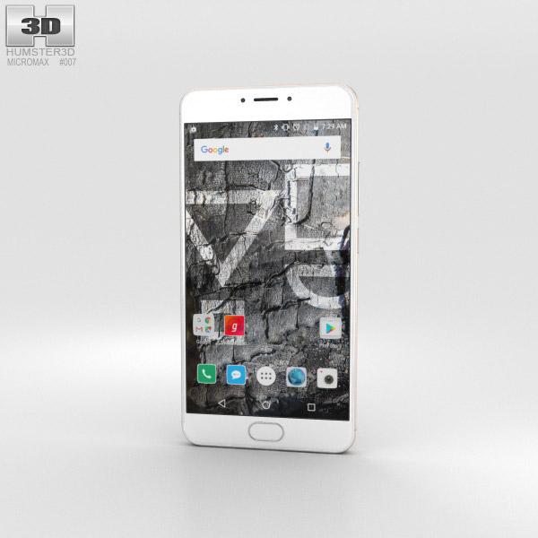 3D model of Micromax YU Yunicorn Gold