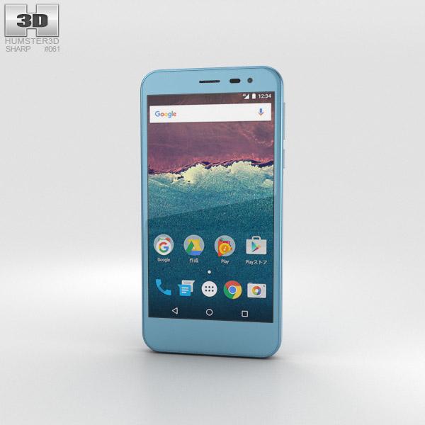 Sharp Aquos 507SH Blue 3Dモデル