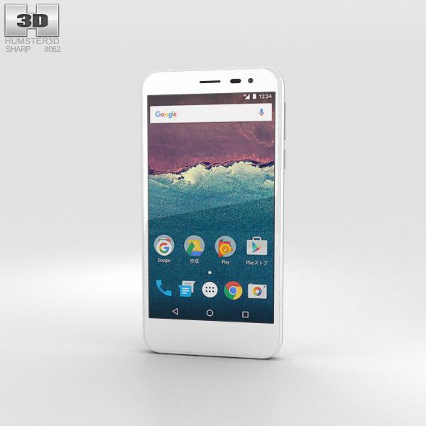 Sharp Aquos 507SH 白い 3Dモデル