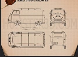 Renault Estafette Panel Van 1976 Blueprint