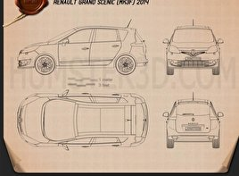 Renault Grand Scenic 2014 Blueprint