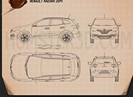 Renault Kadjar 2014 Blueprint