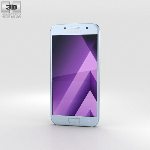 Samsung Galaxy A3 (2017) Blue Mist 3D model
