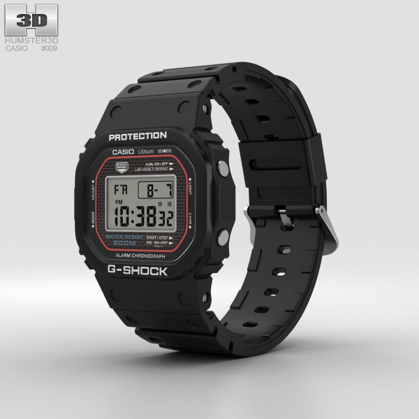 Casio G-Shock DW-5000 3D model